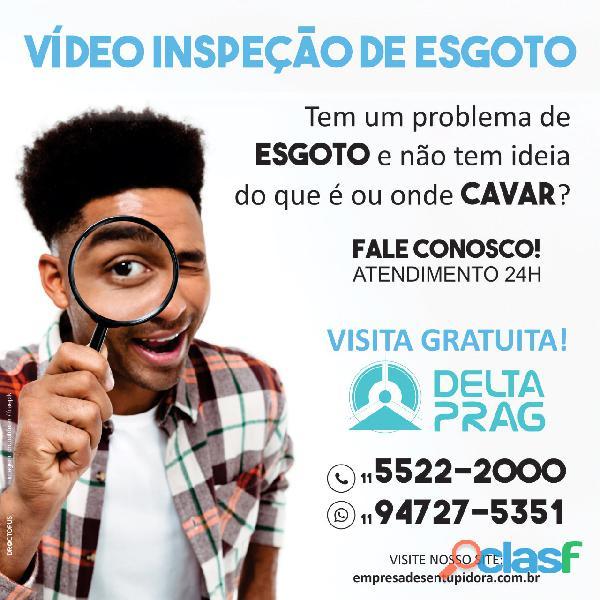 Vídeo inspeção de esgoto na região de São Paulo