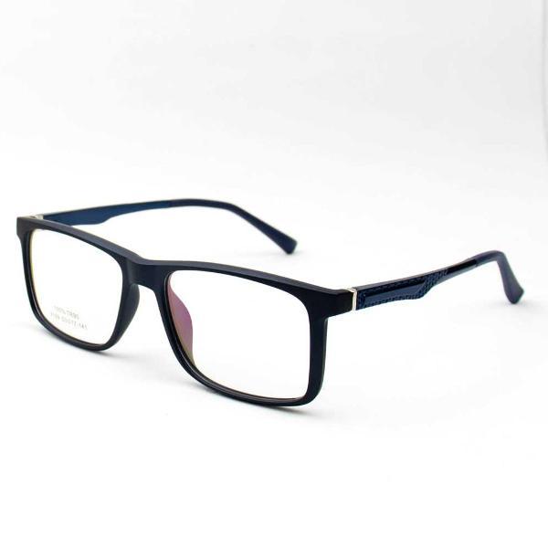 Armação de óculos masculino s/ grau preto c/ vermelho o