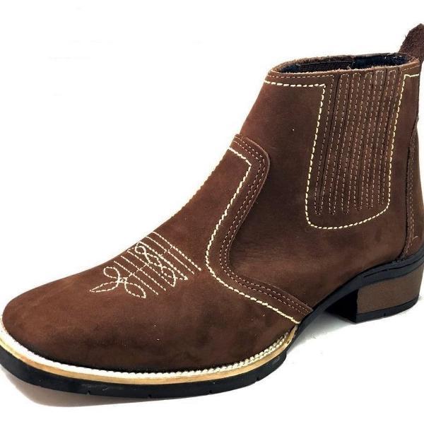 Bota country estilo texana marca campolina botina bico