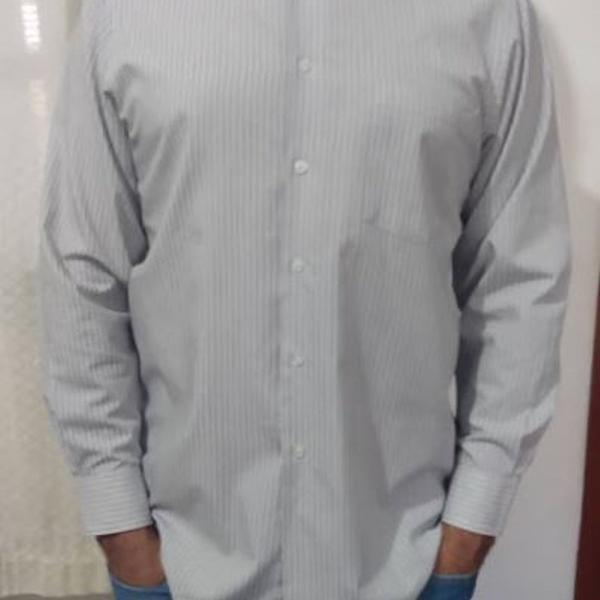 Camisa masculina cinza van heusen regular fit seminova