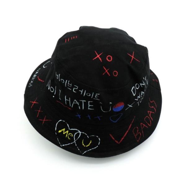 Chapéu boné bucket hat - preto badass grafite