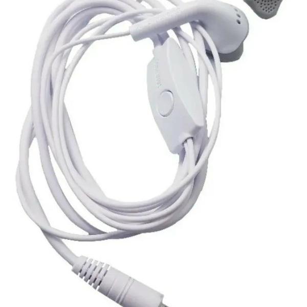 Fone de ouvido celular samsung branco