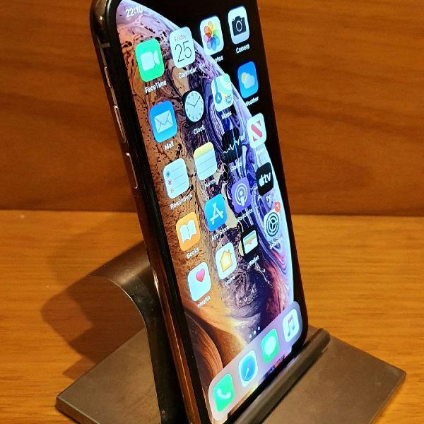 Iphone xs 256gb - gold - face id off - aceito celular de