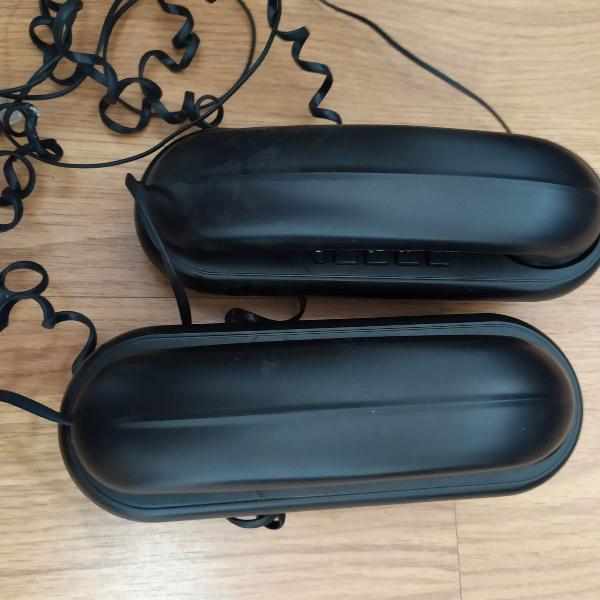 Lote kit 2 telefones com fio preto - elgin tcf1000