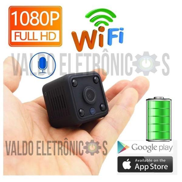 Mini ip camera 1080p bateria wi fi 2carro casa infravermelho