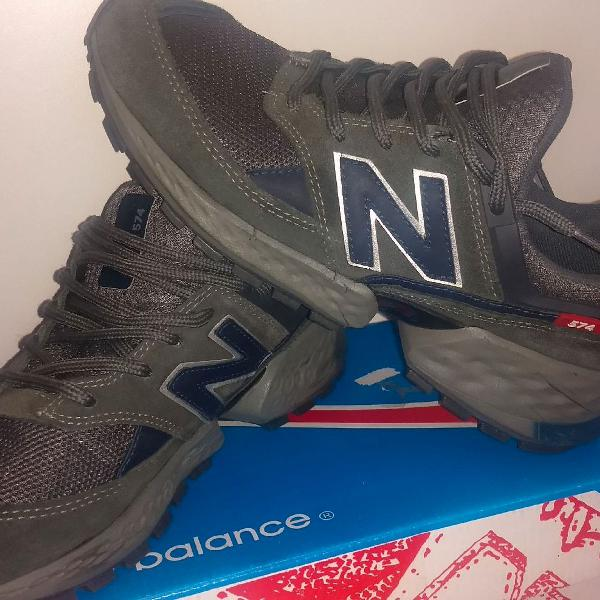 New balance 574 v2 cinza/azul