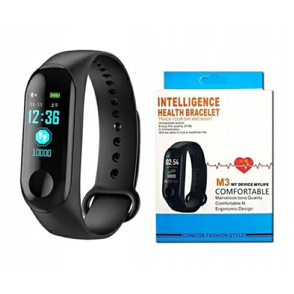 Pulseira inteligente smatband m3 monitor cardíaco preto
