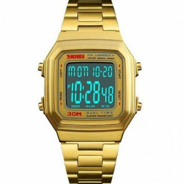 Relógio original dourado unissex