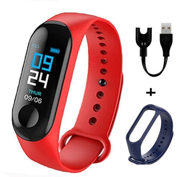 Relógio m3 fitt pulseira inteligente smartwatch passos