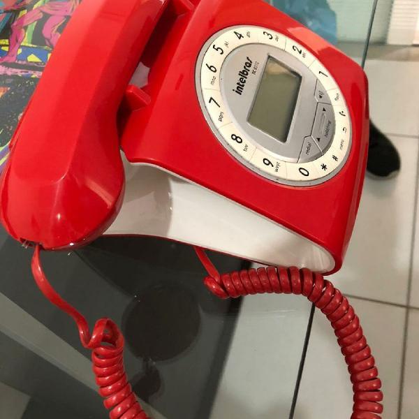 Telefone vintage intelbras vermelho