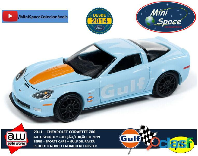 Auto World 2011 Corvette Z06 azul claro Gulf Oil Racer 1/64