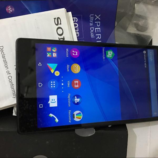 Celular smartphone sony t2 ultra dual dois chips tela 6