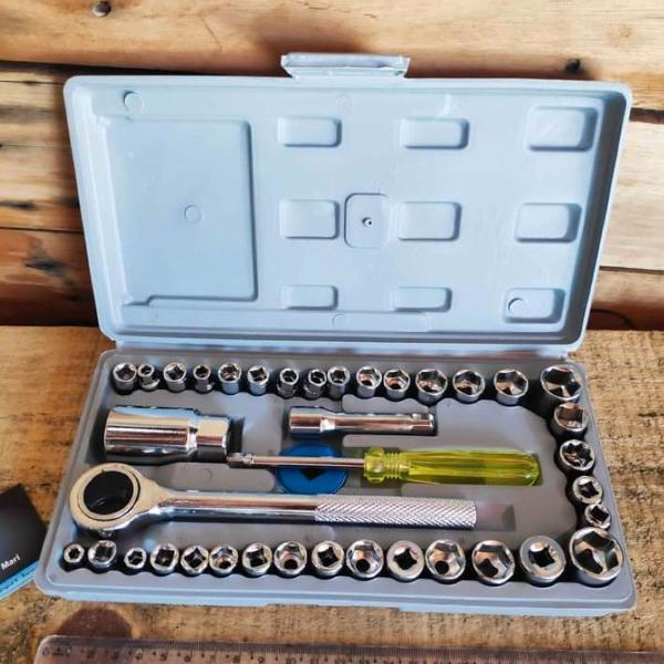 Jogo de chave soquete sextavado 40 peças
