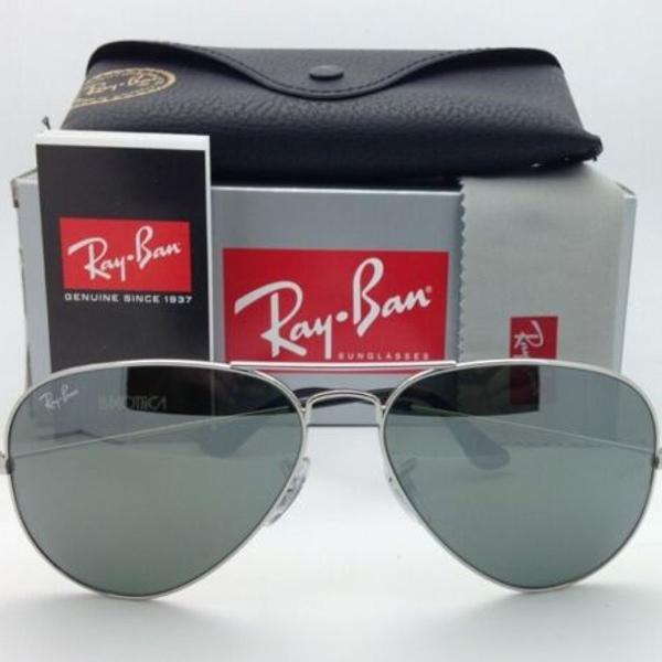 Ray ban aviador prata espelhado rb3025 médio unissex