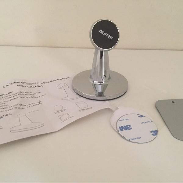 Suporte magnético metal de mesa para celular/tablet!