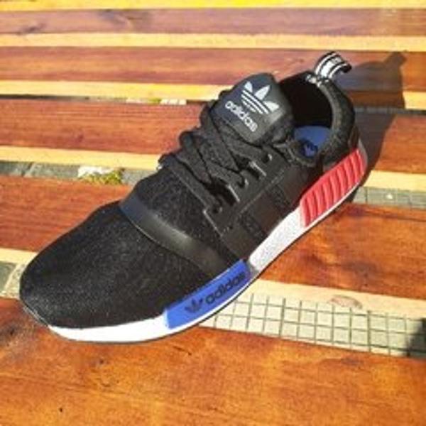 Tênis adidas nmd preto/vermelho/azul 41