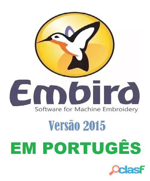 Programa para criação e edição de matrizes de bordados eletrônicos embird 2015 em português