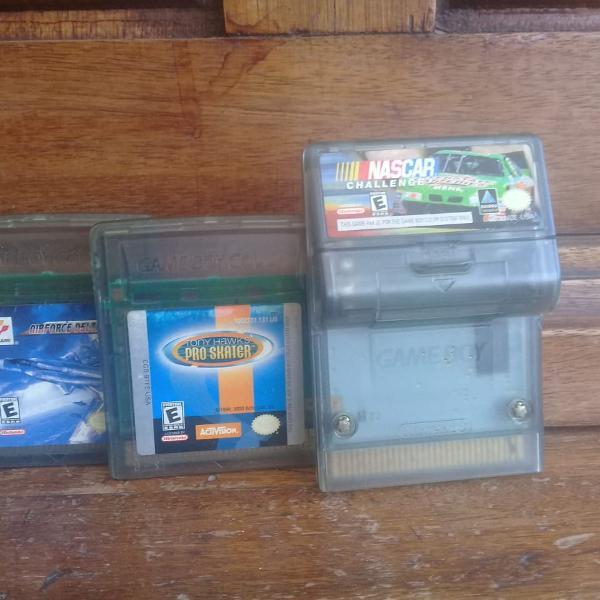 3 jogos para game boy color