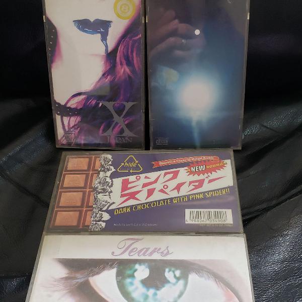 4 single cd x-japan, luna sea e hide