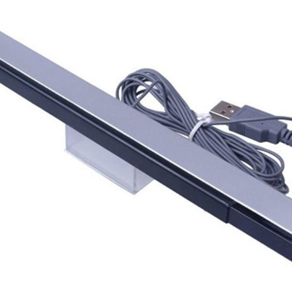 Barra sensor bar wii ou wii u usb pc + suporte preto show