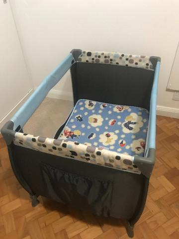 Berço portátil toybar azul cosco