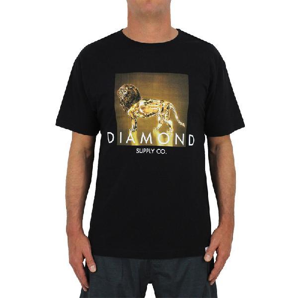 Camiseta diamond geo lion black - surf alive