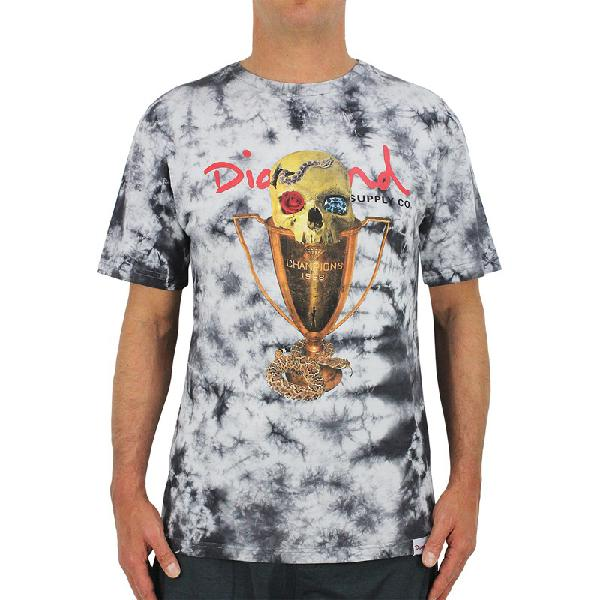 Camiseta diamond pirates cup cristal wash grey - surf alive