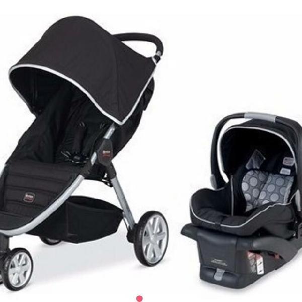 Carro de bebê britax aguilera system com acessórios