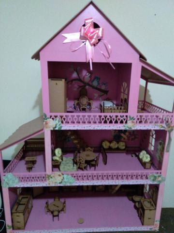 Casinha de boneca mdf - personalizada