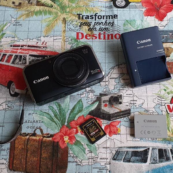 Câmera fotográfica e filmadora canon powershot sx 210 is