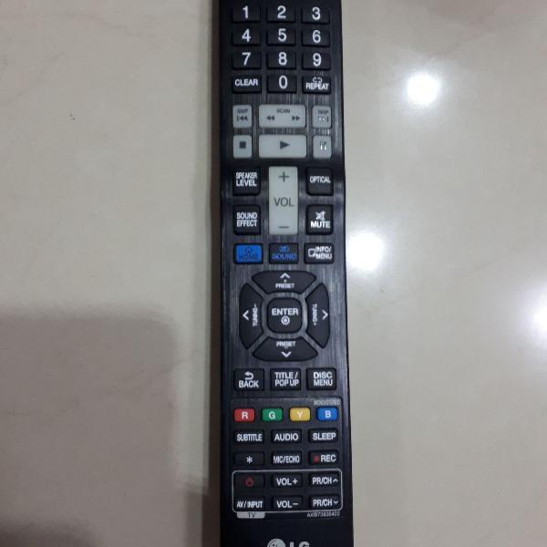 Controle remoto lg (blu ray, home theater)