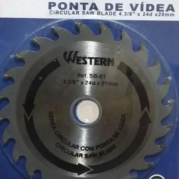Disco de serra circular ponta de vídea 4.3/8 24 dentes