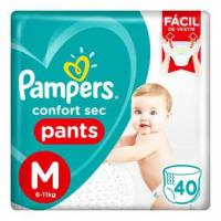 Fralda pampers confort sec pants m