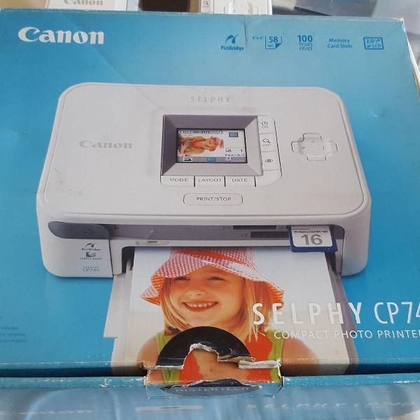 Impressora compacta de fotos canon selphy cp740