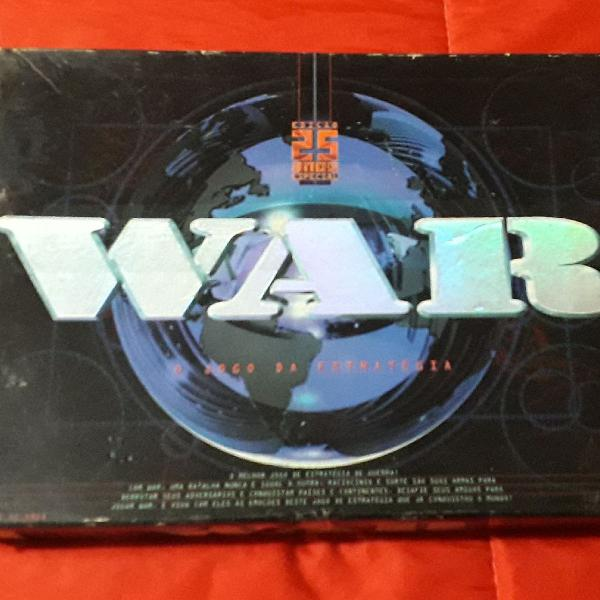 Jogo war 25 anos versão luxo