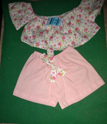 Kit com 6 roupinhas para bebê menina por apenas 165 veste