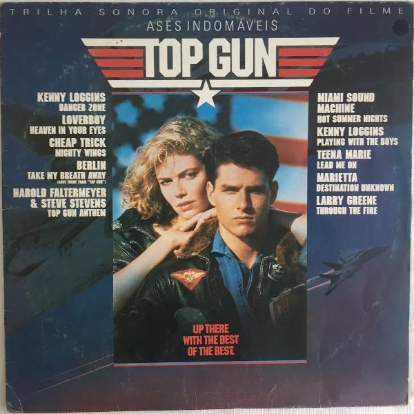 Lp disco vinil - top gun - ases indomáveis - 1986