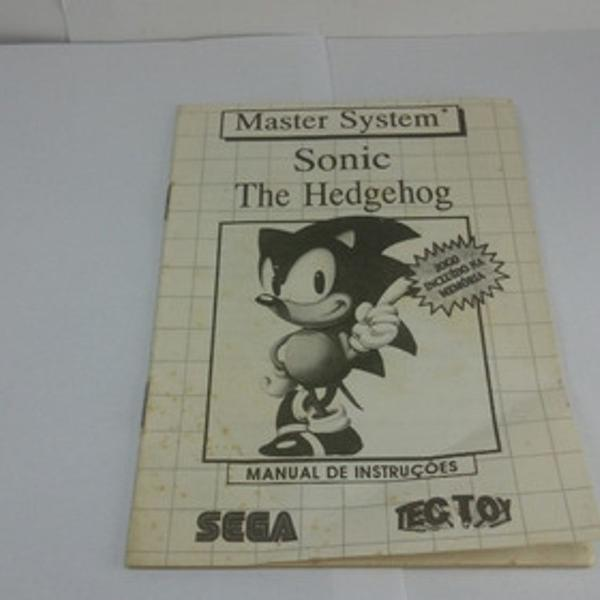 Manual - sonic hedgehog sega master system tetoy sonic sa