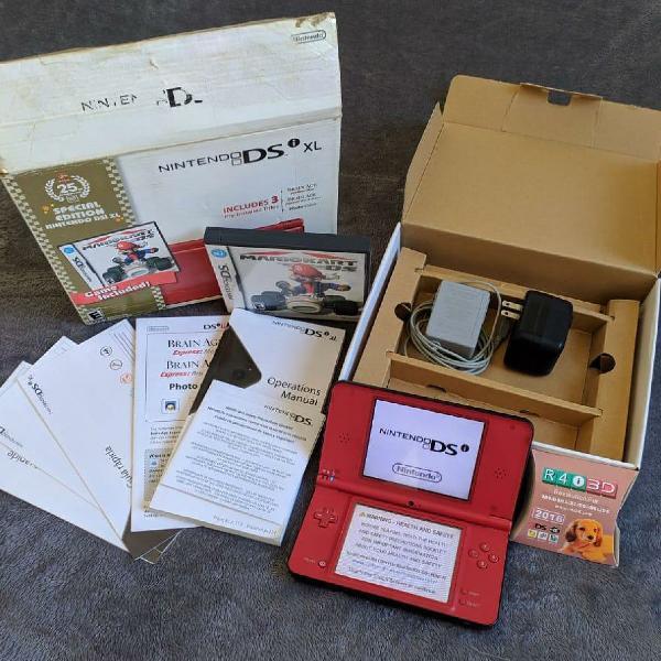 Nintendo ds xl especial edition 25 anos.