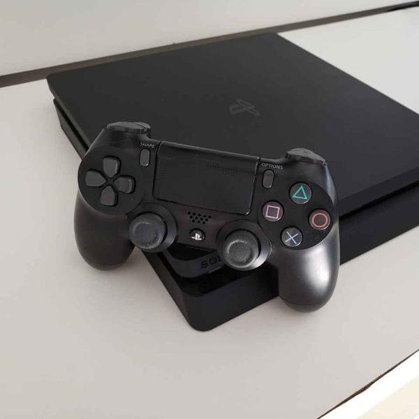 Ps4 slim 500 gb dois controles e jogos