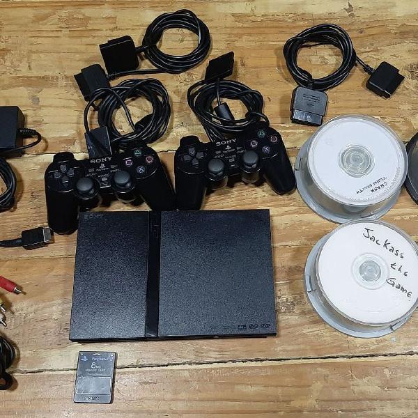 Playstation 2 ps2 em perfeito estado com muitos jogos e