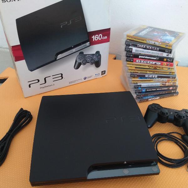 Playstation 3 (modelo slim) + grandes clássicos