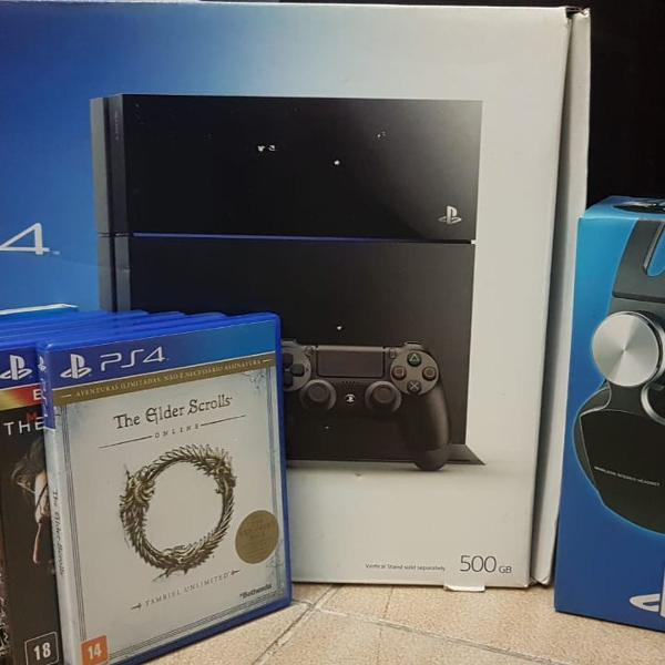 Playstation 4 videogame ps4 fat