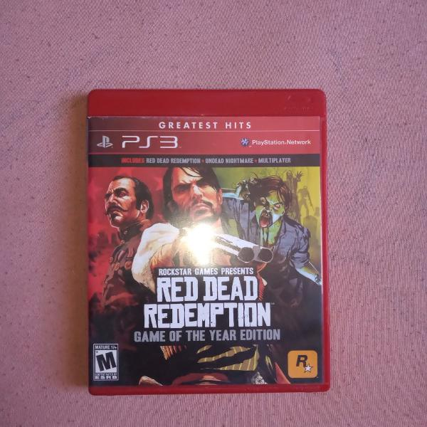 Red dead redemption ps3 game of the year edition usado