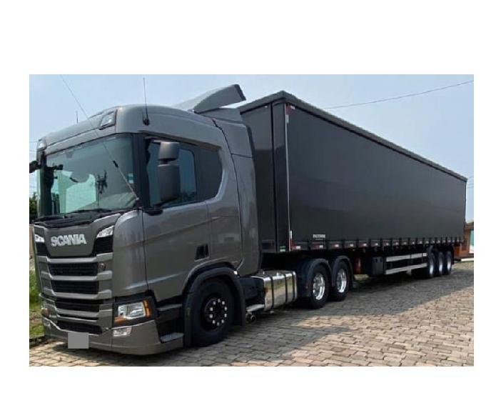 Scania r 450 6x2 completa - carreta sider 3 eixos