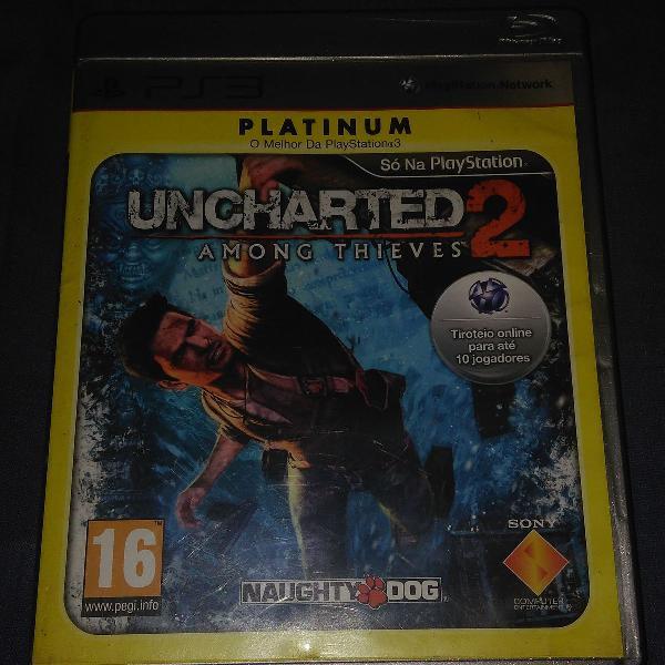 Uncharted 2 among thieves - ps3 - usado - original - mídia