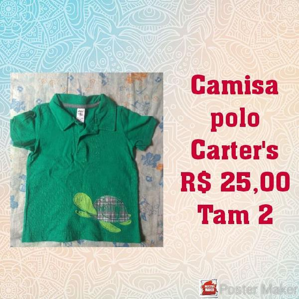 Vendo roupas da marca Carter's semi novas