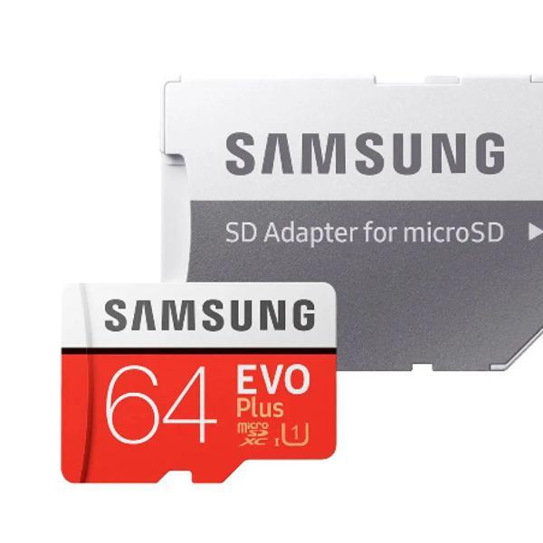 Cartão memória microsdxc 64gb evo plus 80mbs samsung