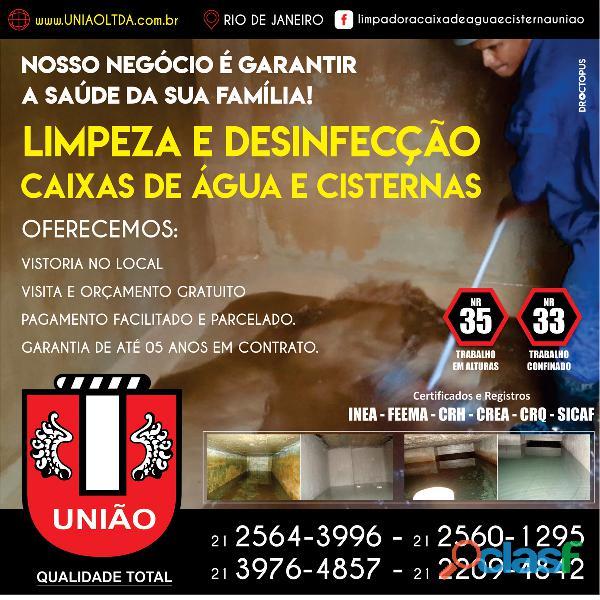 Limpeza de caixas e cisternas de água em empresas