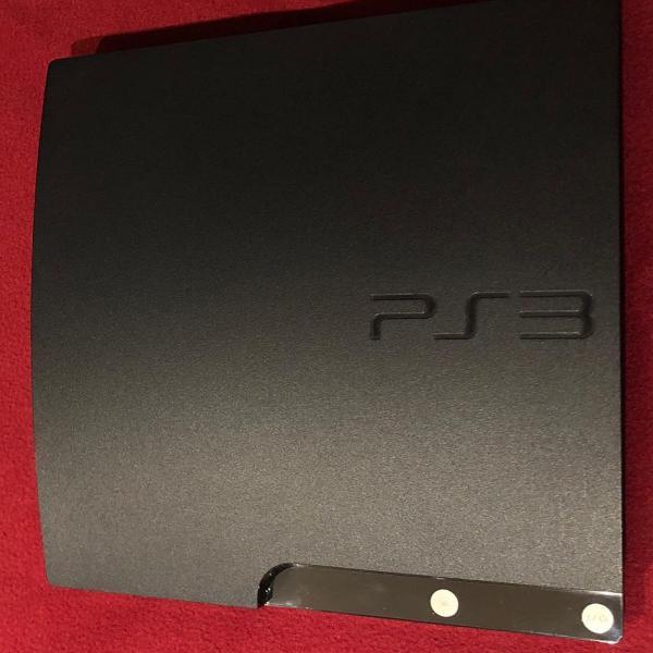 Playstation 3 ps3 slim bloqueado completo + 6 jogos